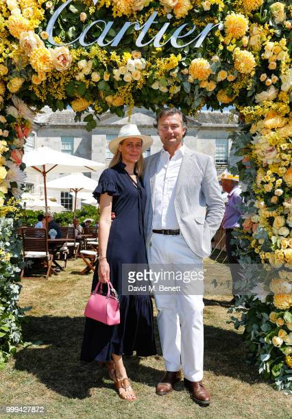 Carine Feniou and Laurent Feniou attend Cartier Style Et Luxe at The Goodwood Festival Of Speed Goodwood on July 15 2018 in Chichester England