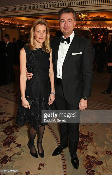 Carine Feniou and Laurent Feniou attend The Cartier Racing Awards 2016 at The Dorchester on November 8 2016 in London England