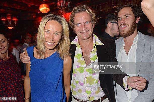 Carine James BeigbederÊand Charles Beigbeder attend La Nuit des Cougars et Des Vieux Beaux' Party at the Raspoutine Club on October 9 2015 in Paris...