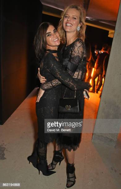 Carine Roitfeld and Eva Herzigova attends The Veuve Clicquot Widow Series By Carine Roitfeld And CR Studio on October 19 2017 in London England