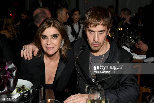 Carine Roitfeld and Steven Klein attend the CR Fashion Book Celebrating launch of CR Girls 2018 with Technogym at Spring Place on December 12 2017 in...