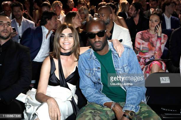Carine Roitfeld and Virgil Abloh attend the CR Runway x LuisaViaRoma Event during Pitti Immagine Uomo 96 on June 13 2019 in Florence Italy