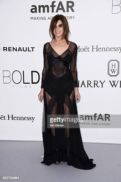 Carine Roitfeld arrives at amfAR's 23rd Cinema Against AIDS Gala at Hotel du CapEdenRoc on May 19 2016 in Cap d'Antibes France