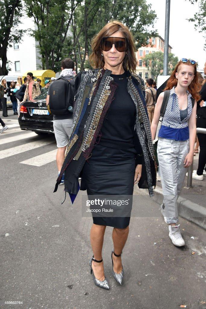 Emporio Armani - Arrivals - Milan Fashion Week Womenswear Spring/Summer 2015
