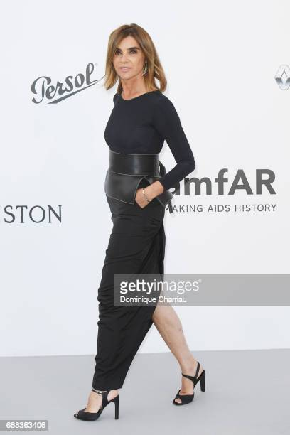 Carine Roitfeld arrives at the amfAR Gala Cannes 2017 at Hotel du CapEdenRoc on May 25 2017 in Cap d'Antibes France