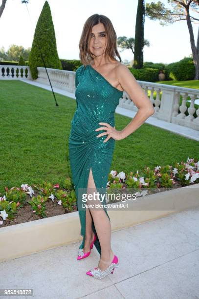 Carine Roitfeld arrives at the amfAR Gala Cannes 2018 at Hotel du CapEdenRoc on May 17 2018 in Cap d'Antibes France