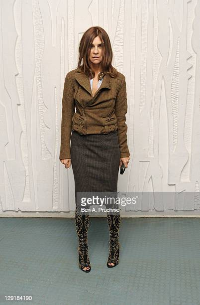 Carine Roitfeld arrives at the Calvin Klein Collection Dinner to Celebrate the new home of London's Design Museum at The Design Museum on October 13...