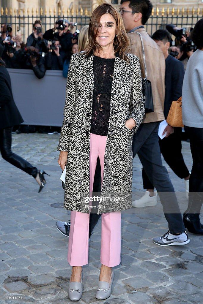 Carine Roitfeld Arrives At The Christian Dior Show As Part Of Paris Fashion Week Womenswear