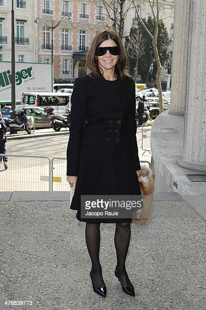 Carine Roitfeld arrives at the Miu Miu show as part of the Paris Fashion Week Womenswear Fall/Winter 20142015 on March 5 2014 in Paris France