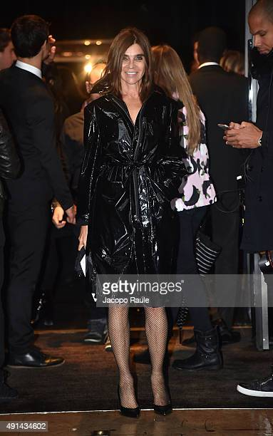 Carine Roitfeld arrives at the Sonia Rykiel Fashion Show during the Paris Fashion Week S/S 2016 Day Seven on October 5 2015 in Paris France