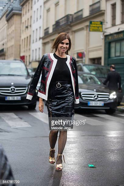 Carine Roitfeld at the Atelier Versace Couture show at Palais Brongniart on July 3 2016 in Paris France