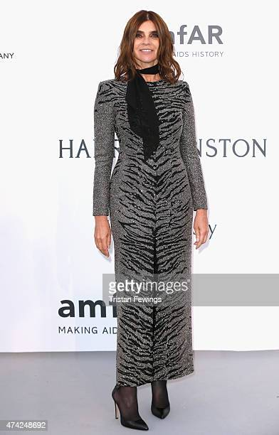Carine Roitfeld attends amfAR's 22nd Cinema Against AIDS Gala Presented By Bold Films And Harry Winston at Hotel du CapEdenRoc on May 21 2015 in Cap...