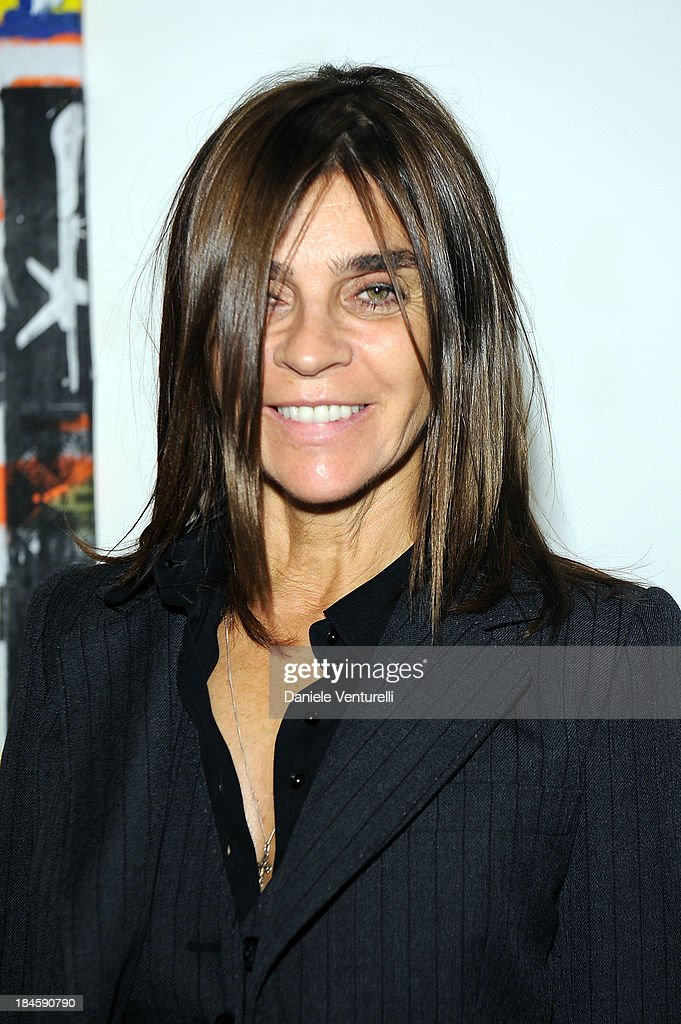 Carine Roitfeld attends Cardi Black Box Gallery Present Nicolas Pol hosted by Nicolo Cardi And Vladimir Restoin Roitfeld at Cardi Black Box on October 14, 2013 in Milan, Italy.