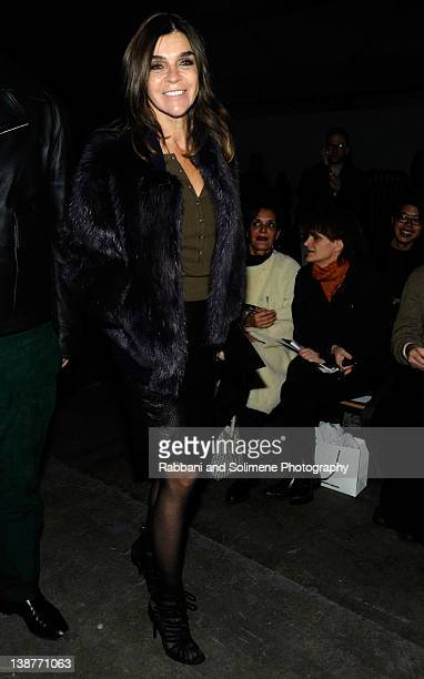 Carine Roitfeld attends the Alexander Wang Fall 2012 fashion show during MercedesBenz Fashion Week at Pier 94 on February 11 2012 in New York City