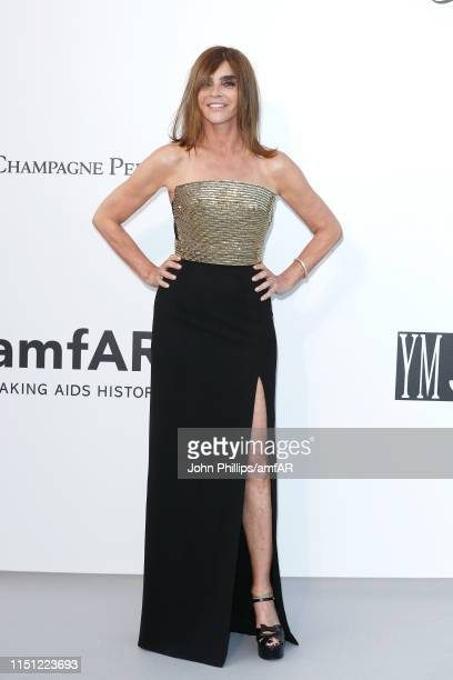 Carine Roitfeld attends the amfAR Cannes Gala 2019 at Hotel du CapEdenRoc on May 23 2019 in Cap d'Antibes France
