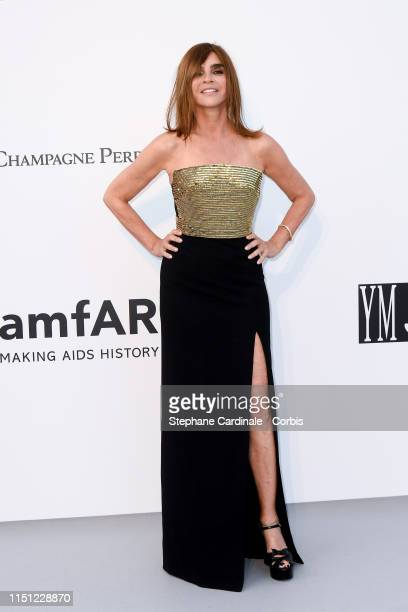 Carine Roitfeld attends the amfAR Cannes Gala 2019>> at Hotel du CapEdenRoc on May 23 2019 in Cap d'Antibes France