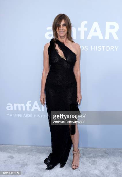Carine Roitfeld attends the amfAR Cannes Gala 2021 at Villa Eilenroc on July 16, 2021 in Cap d'Antibes, France.