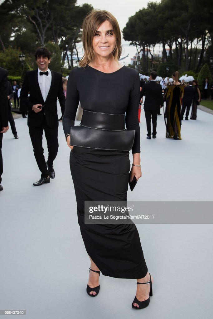 Carine Roitfeld attends the amfAR Gala Cannes 2017 at Hotel du Cap-Eden-Roc on May 25, 2017 in Cap d'Antibes, France.