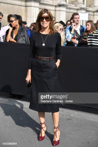 Carine Roitfeld attends the Balmain show as part of the Paris Fashion Week Womenswear Spring/Summer 2019 on September 28 2018 in Paris France