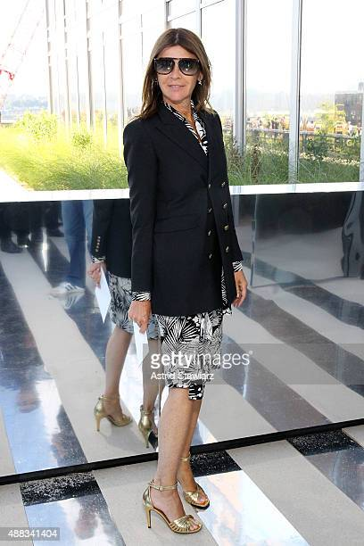 Carine Roitfeld attends the Coach Women's Spring 2016 Show at the Highline during New York Fashion Week on September 15 2015 in New York City