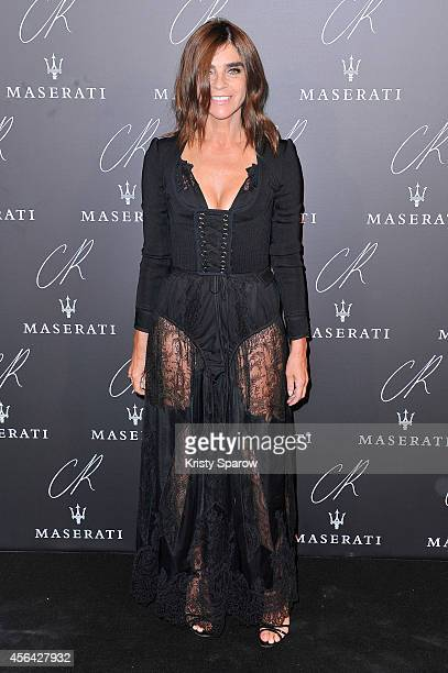 Carine Roitfeld attends the CR Fashion Book Issue No5 Launch Party hosted by Carine Roitfeld and Stephen Gan at The Peninsula Paris on September 30...