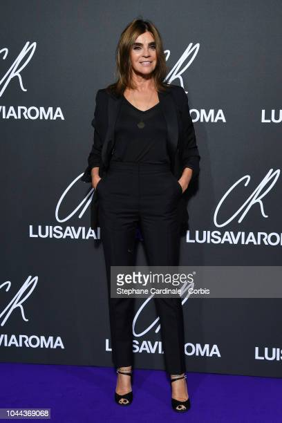 Carine Roitfeld attends the CR Fashion Book x Luisaviaroma Photocall as part of the Paris Fashion Week Womenswear Spring/Summer 2019 on October 1...