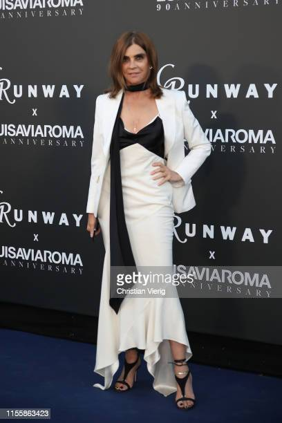 Carine Roitfeld attends the CR Runway x LuisaViaRoma Event during Pitti Immagine Uomo 96 on June 13, 2019 in Florence, Italy.