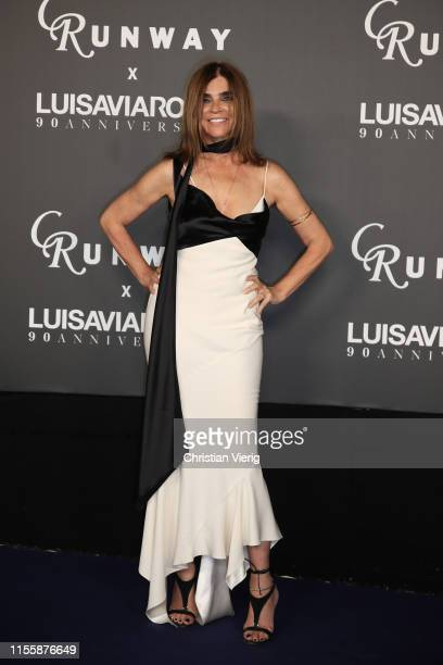 Carine Roitfeld attends the CR Runway x LuisaViaRoma Event during Pitti Immagine Uomo 96 on June 13 2019 in Florence Italy