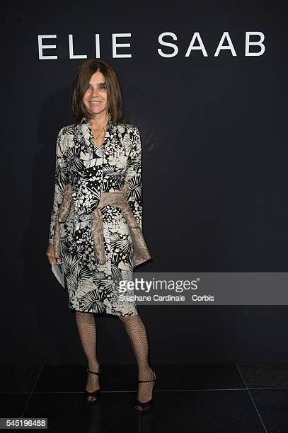 Carine Roitfeld attends the Elie Saab Haute Couture Fall/Winter 20162017 show as part of Paris Fashion Week on July 6 2016 in Paris France