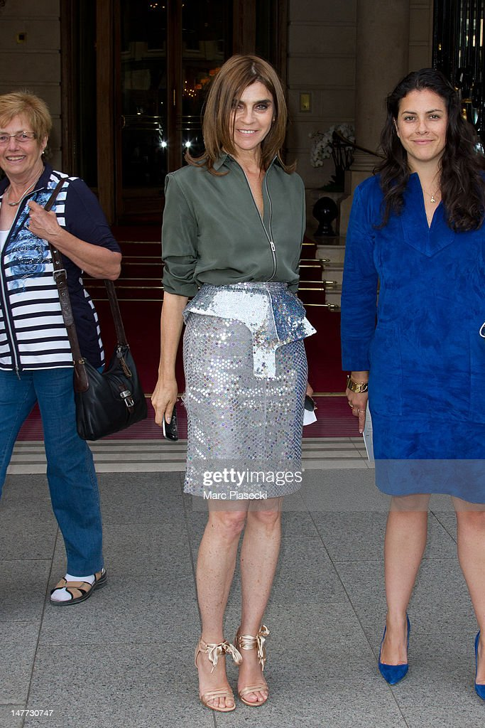 Carine Roitfeld attends the Giambattista Valli Haute-Couture Show as part of Paris Fashion Week Fall / Winter 2013 at Hotel Crillon on July 2, 2012 in Paris, France.