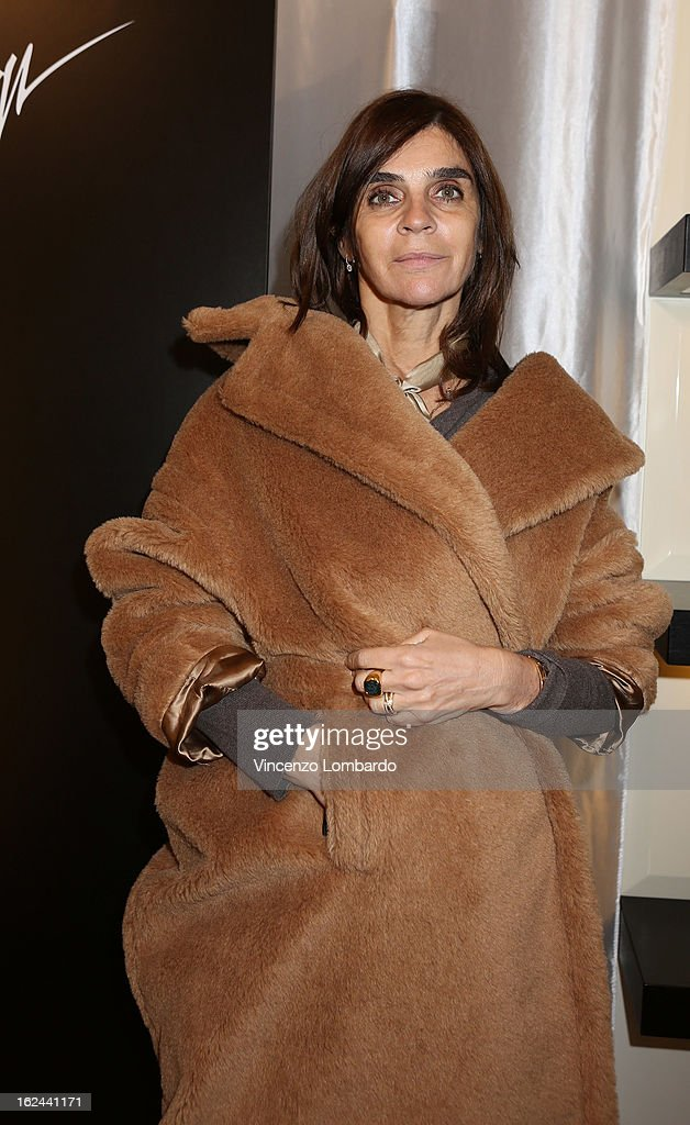Carine Roitfeld attends the Giuseppe Zanotti Design Presentation during Milan Fashion Week Womenswear Fall/Winter 2013/14 on February 23, 2013 in Milan, Italy.