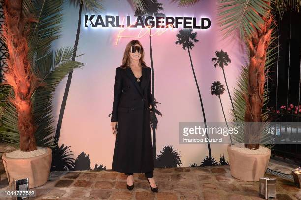 Carine Roitfeld attends the launch of the Karl x Kaia collaboration capsule collection on October 2 2018 in Paris France