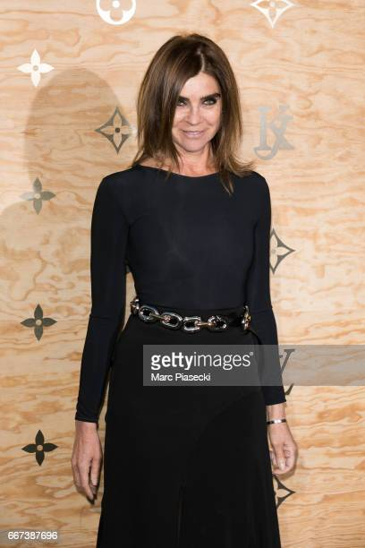 Carine Roitfeld attends the 'Louis Vuitton Masters a collaboration with Jeff Koons' dinner at Musee du Louvre on April 11 2017 in Paris France