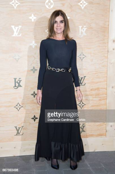 Carine Roitfeld attends the Louis Vuitton's Dinner for the Launch of Bags by Artist Jeff Koons at Musee du Louvre on April 11 2017 in Paris France