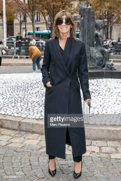 Carine Roitfeld attends the Miu Miu show as part of the Paris Fashion Week Womenswear Spring/Summer 2019 on October 2 2018 in Paris France
