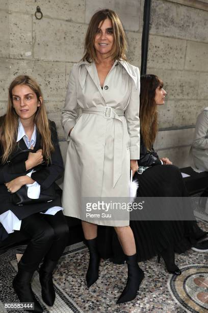 Carine Roitfeld attends the Proenza Schouler Haute Couture Fall/Winter 20172018 show as part of Haute Couture Paris Fashion Week on July 2 2017 in...