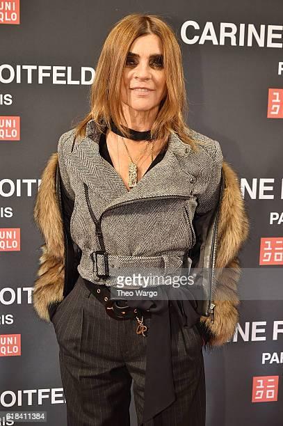 Carine Roitfeld attends the UNIQLO Fall/Winter 2016 Carine Roitfeld collection launch at UNIQLO on October 26 2016 in New York City
