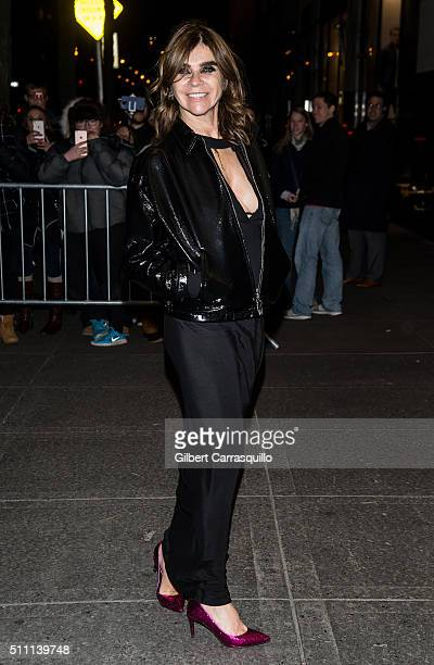 Carine Roitfeld attends the V Magazine Party at the Rainbow Room on February 17 2016 in New York City