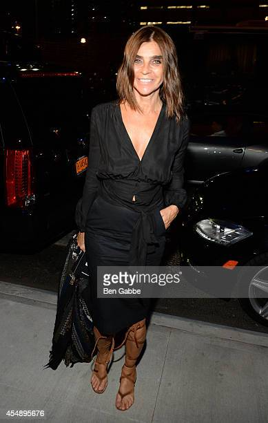 Carine Roitfeld attends the Versus Versace fashion show during MercedesBenz Fashion Week Spring 2015 at Metropolitan West on September 7 2014 in New...