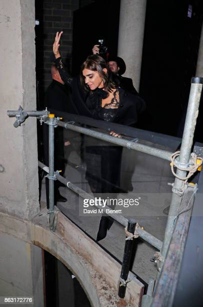 Carine Roitfeld attends The Veuve Clicquot Widow Series By Carine Roitfeld And CR Studio on October 19 2017 in London England