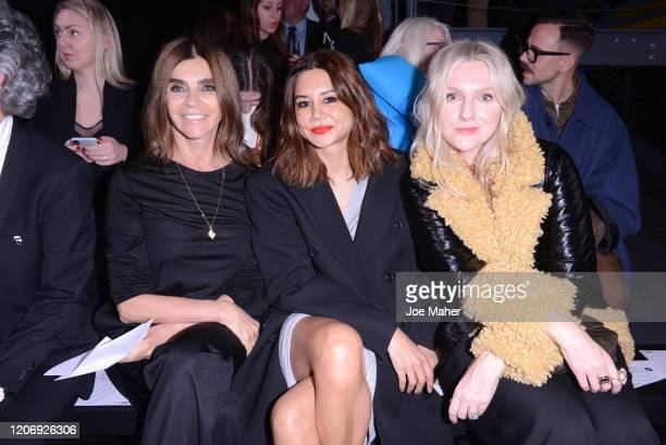 Carine Roitfeld Christine Centenera and Laura Brown attend the International Woolmark Prize 2020 during London Fashion Week February 2020 at Ambika P...