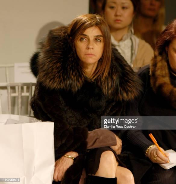 Carine Roitfeld during Olympus Fashion Week Fall 2005 Derek Lam Front Row at Milk Studios in New York City New York United States