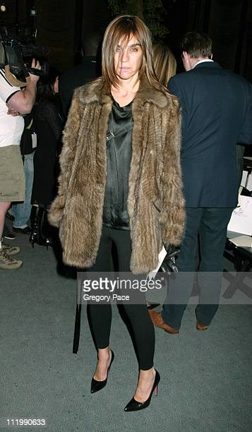 Carine Roitfeld during Zac Posen Fall 2003 Fashion Show at The Four Seasons Restaurant in New York NY United States