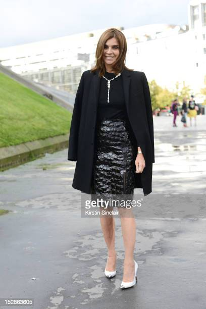 Carine Roitfeld Editor in Chief of CR Fashion-Book on day 3 of Paris Fashion Week Womenswear Spring/Summer 2013, on September 27, 2012 in Paris,...