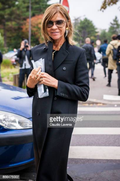 Carine Roitfeld is seen before the Celine show during Paris Fashion Week Womenswear SS18 on October 1 2017 in Paris France