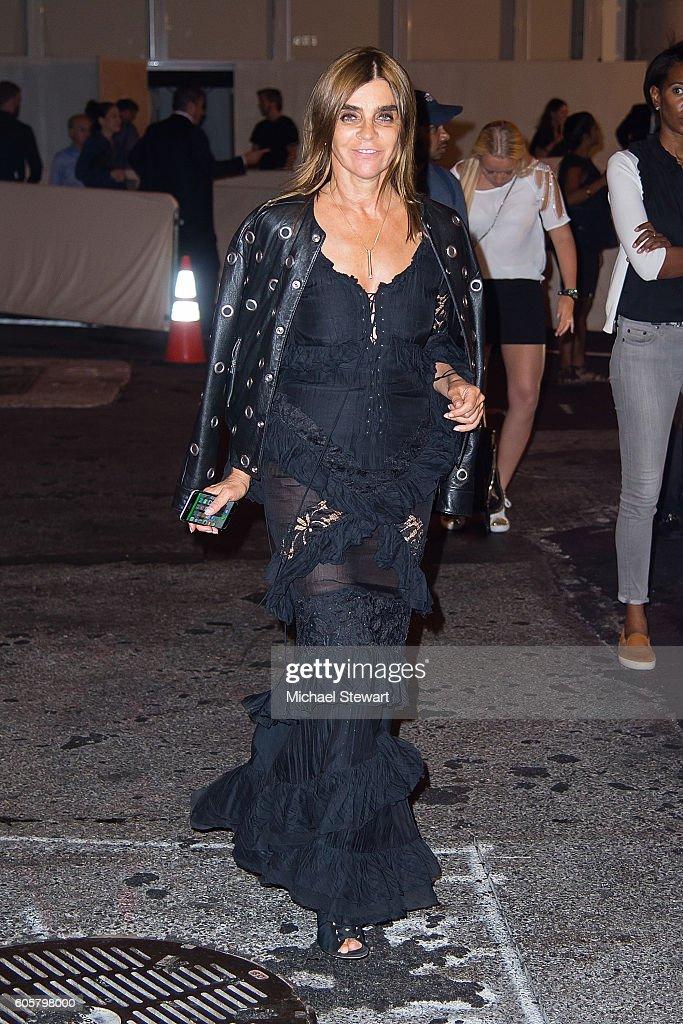 Carine Roitfeld is seen in the Upper East Side on September 14, 2016 in New York City.