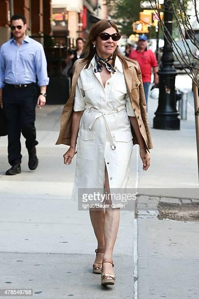 Carine Roitfeld is seen on June 25 2015 in New York City