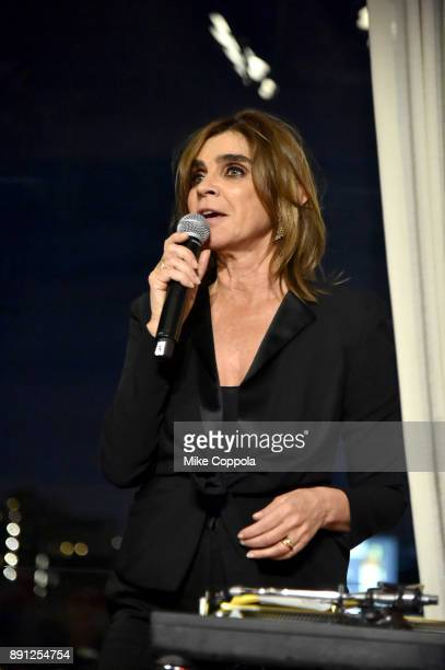 Carine Roitfeld speaks during the CR Fashion Book Celebrating launch of CR Girls 2018 with Technogym at Spring Place on December 12 2017 in New York...