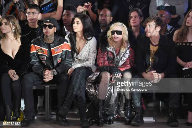 Carine Roitfeld Tyga Kylie Jenner Madonna and Steven Klein attend the Front Row for the Philipp Plein Fall/Winter 2017/2018 Women's And Men's Fashion...