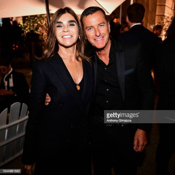 Carine Roitfeldand and Pier Paolo Righi celebrate the launch of the Karl x Kaia collaboration capsule collection on October 2 2018 in Paris France